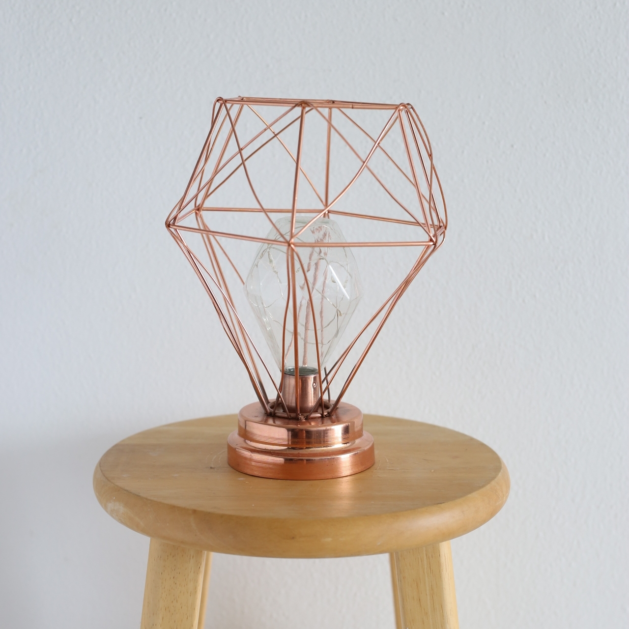 rose gold accent lamp - 10""