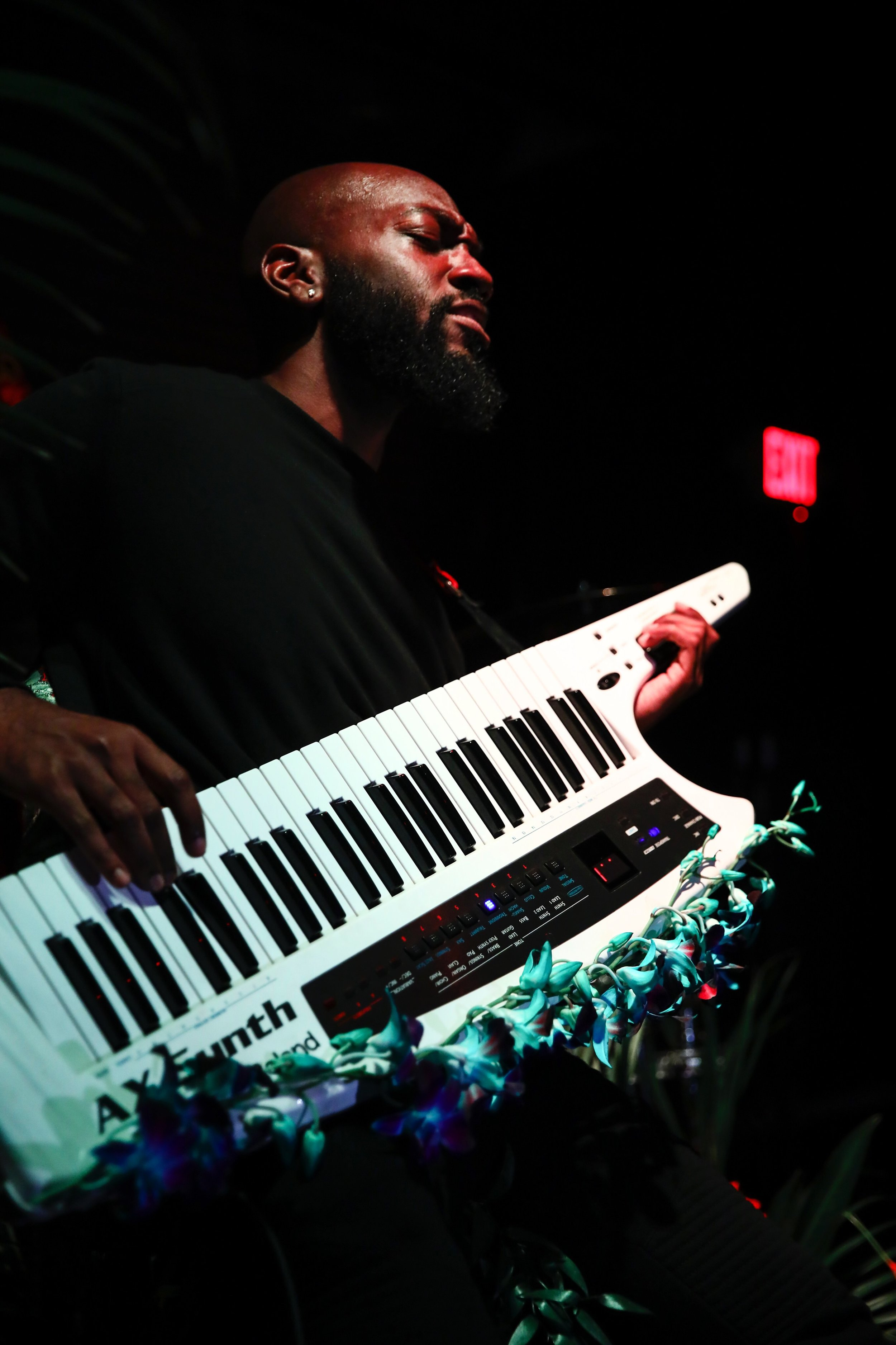 preach  + keytar, styled in dendrobium orchids