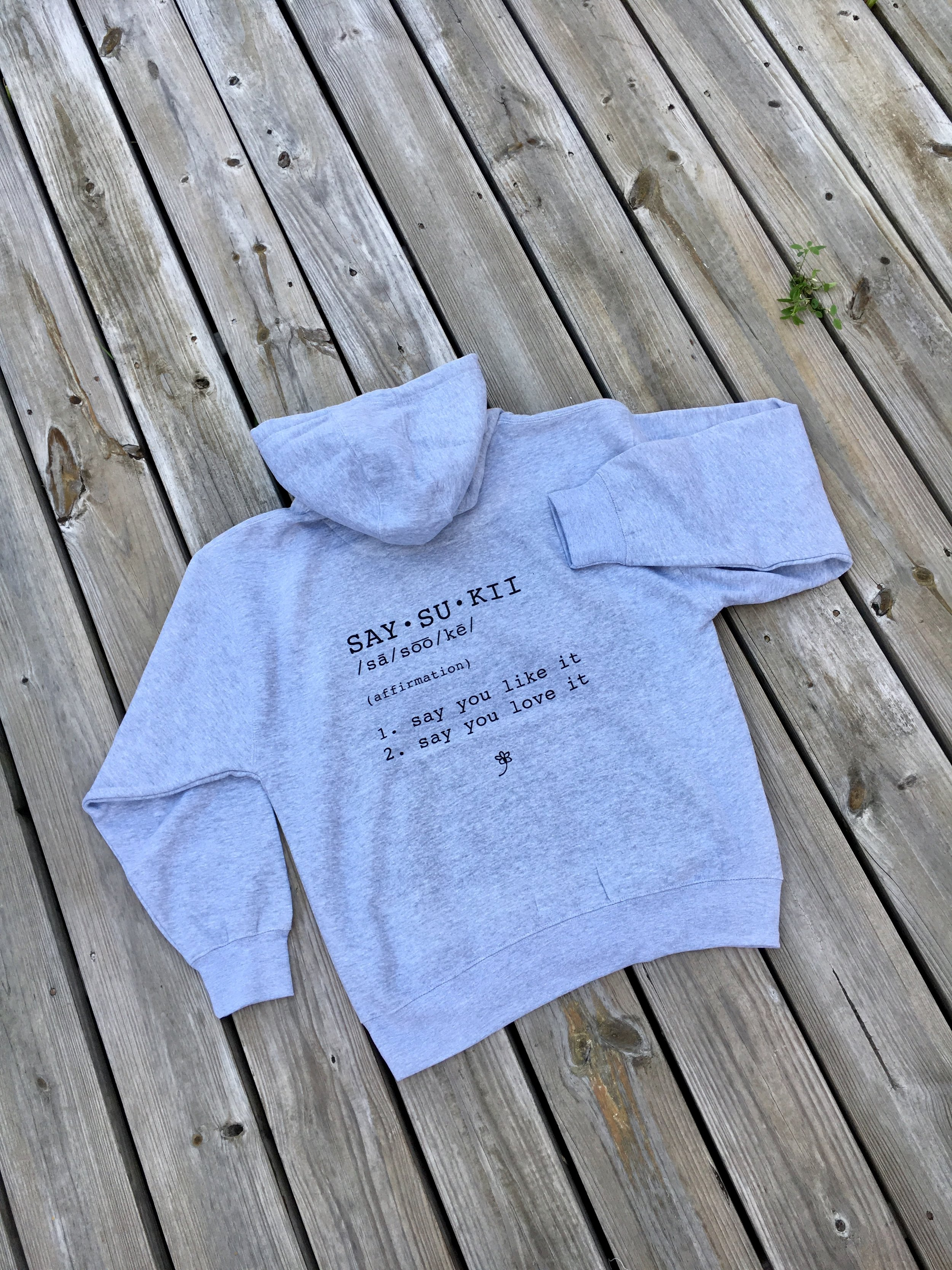 $55    Affirmation hoodie - grey     PURCHASE NOW