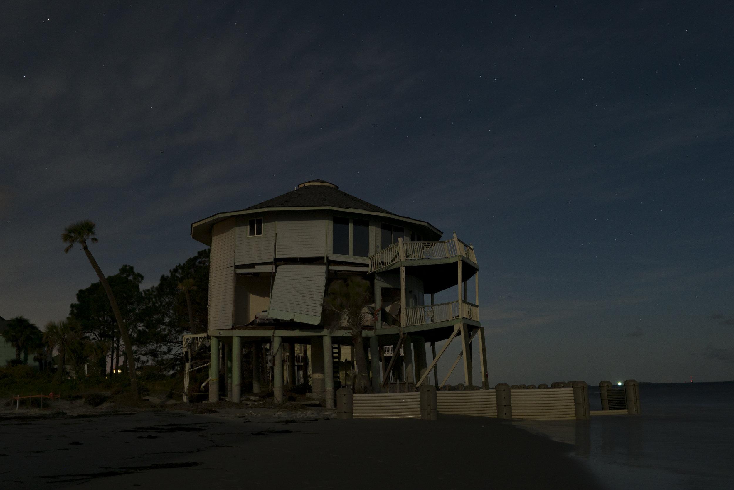 Home destroyed by Hurricane Matthew. Harbor Island, SC
