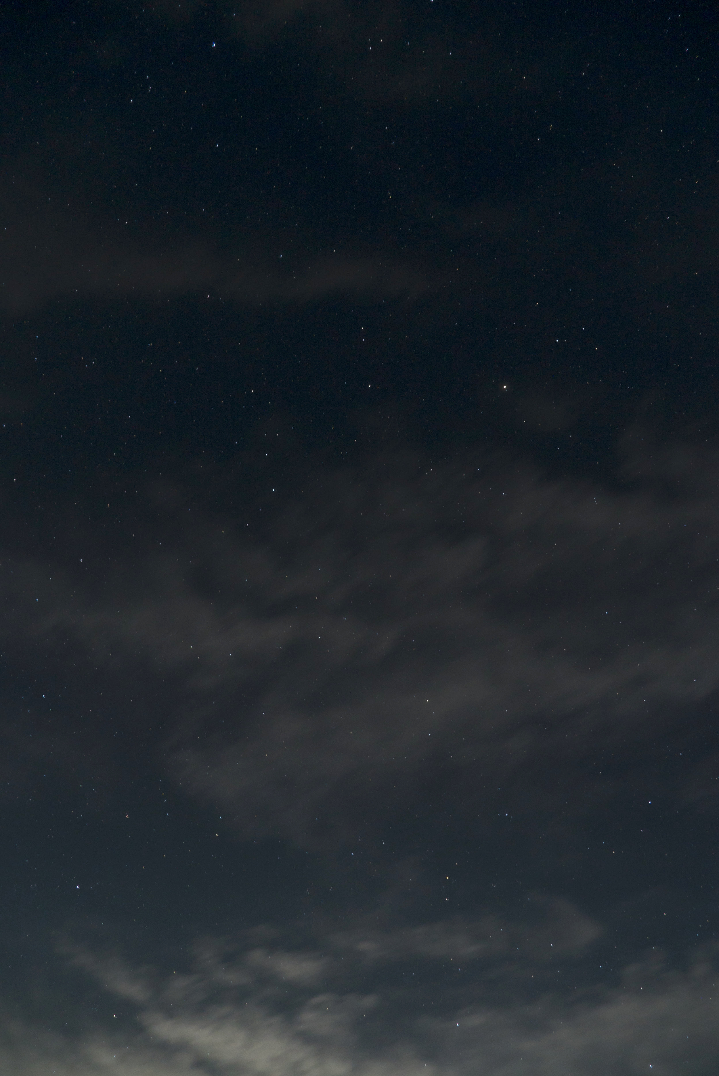 Clouds and stars during the full moon