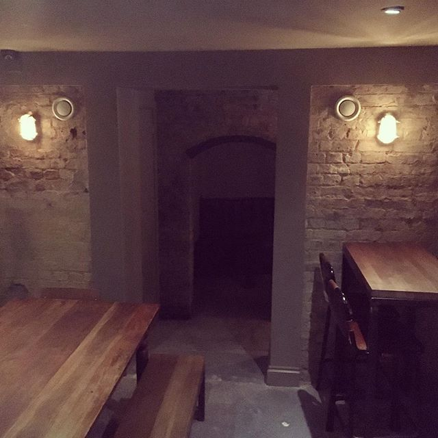 A sneak peak of our newly opened space. Test drive tonight. 3 new arches in the basement. Still some work to do.
