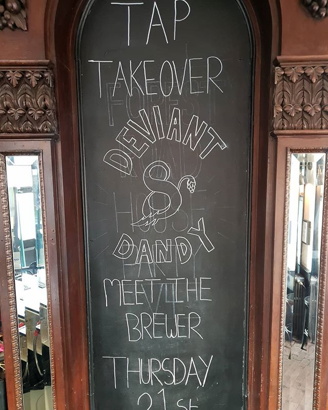 Tap take over! Come meet the team behind Deviant&Dandy brewery tonight @6pm  @deviantanddandybrewery  #craftbeerrising #taptakeover #pub #whitechapel #london #craftbeer #boozer