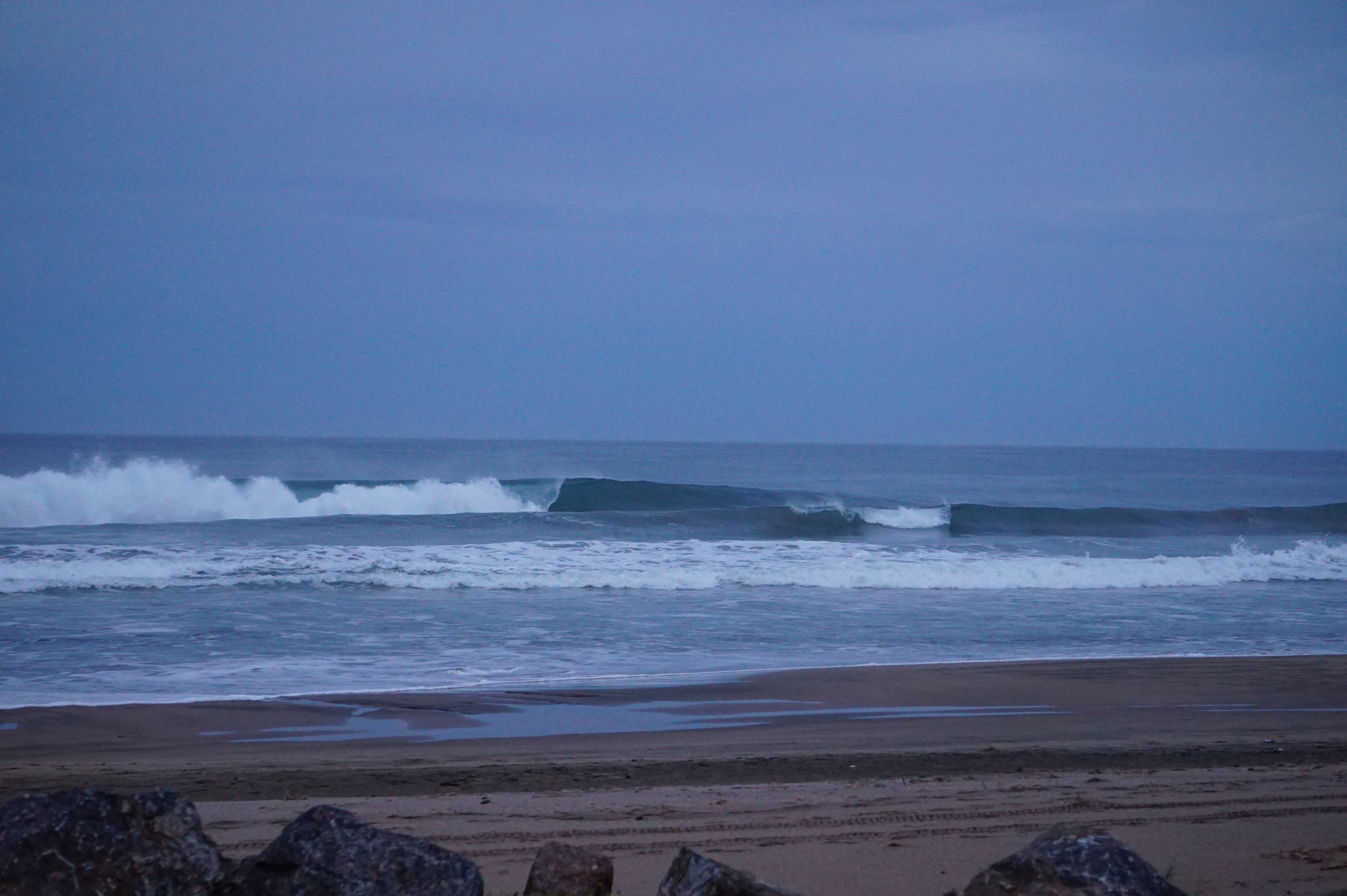 Troncones surf … the beachies are fickle and super heavy when they get going.