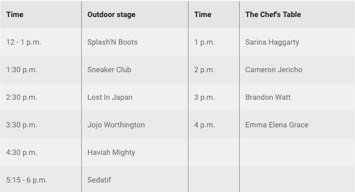 Fanshawe Live Schedule