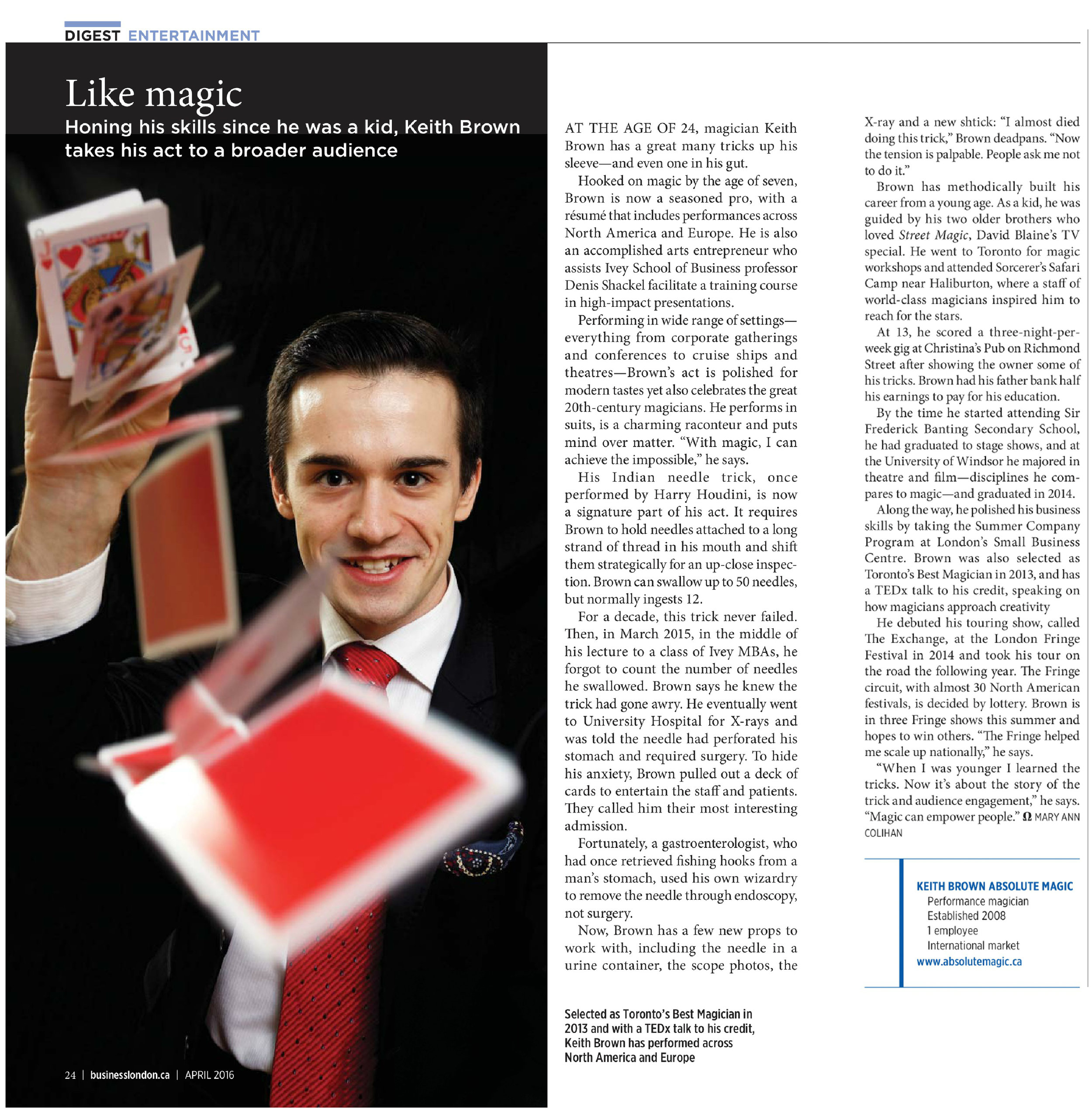Business London Magazine Feature
