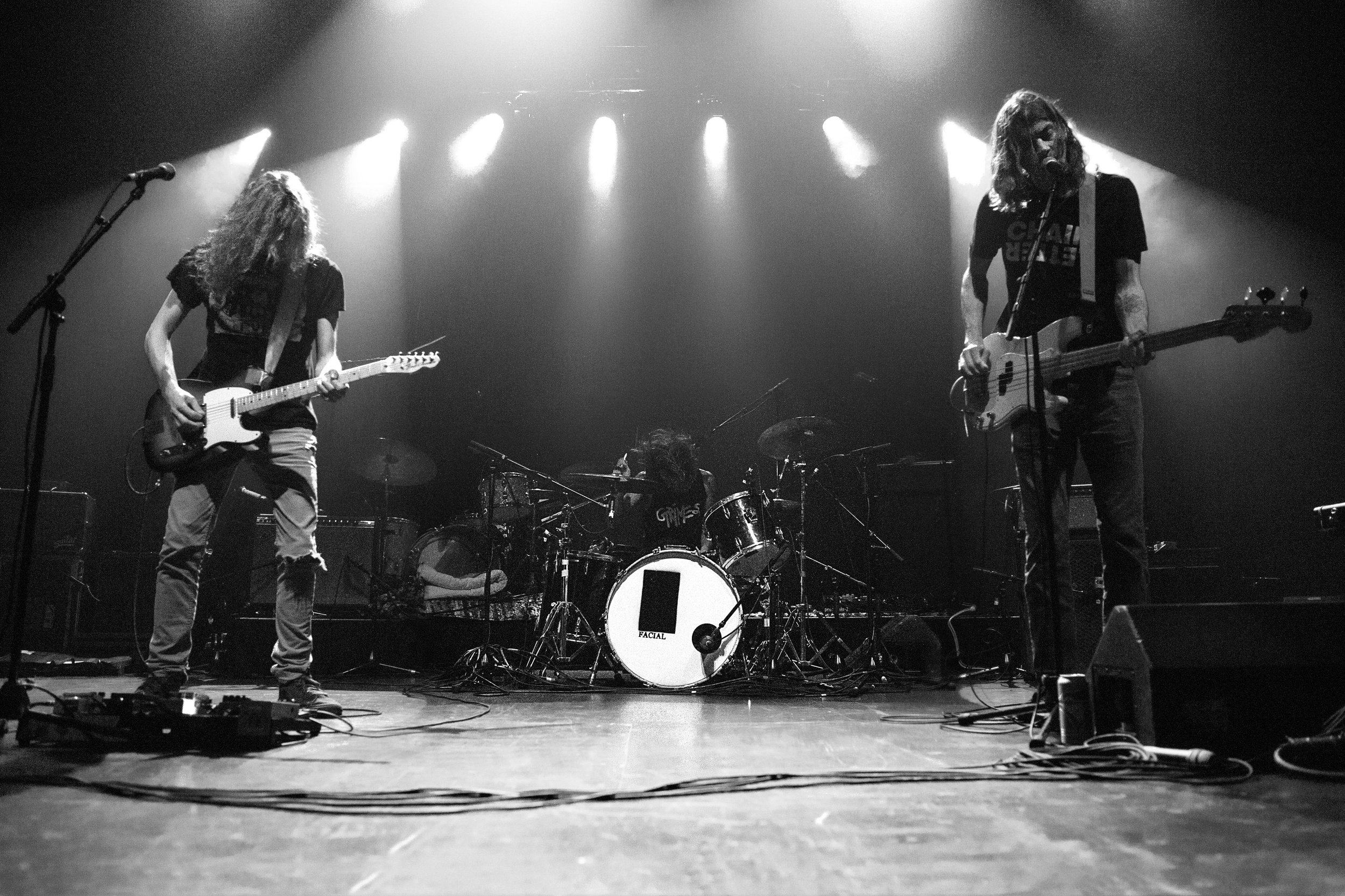 Facial, an L.A. based band opening for Warpaint.