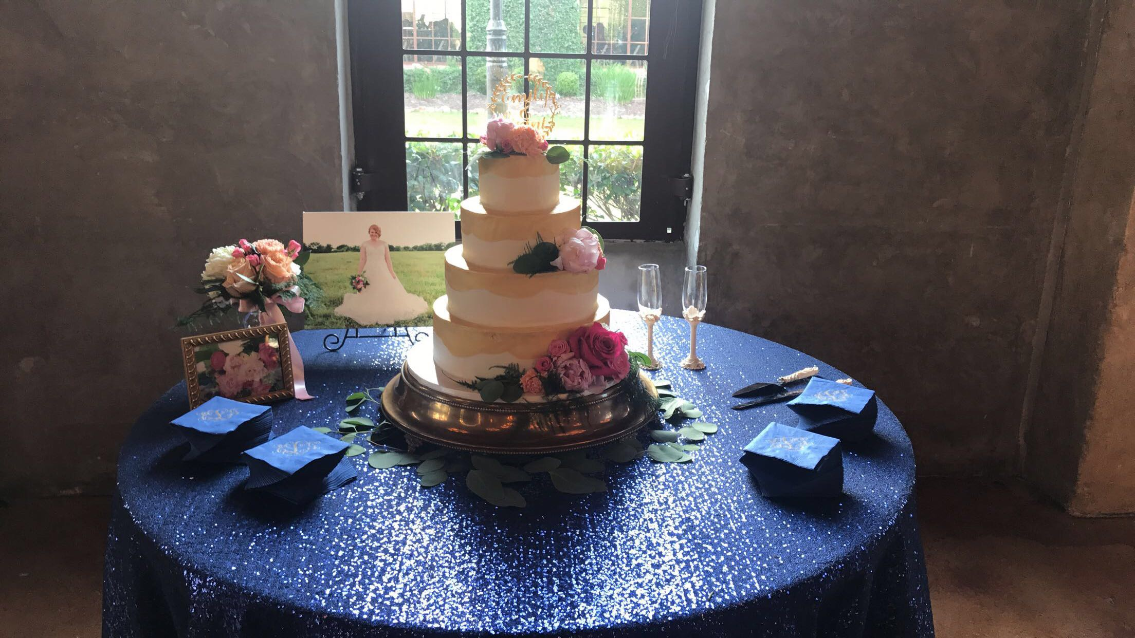 Bride's Cake Table