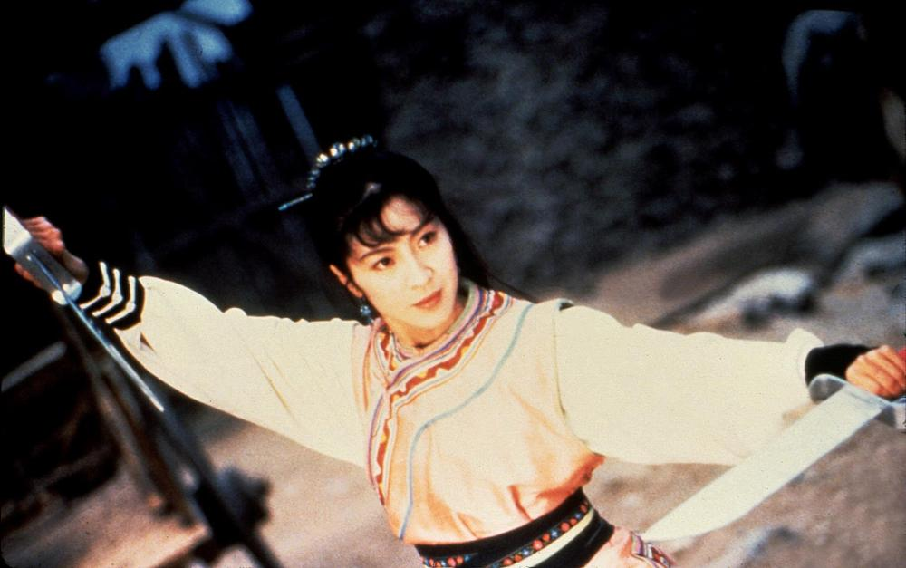 Michelle Yeoh as Yim Wing Chun in the 1994 film, Wing Chun. Image courtesy of Cineplex