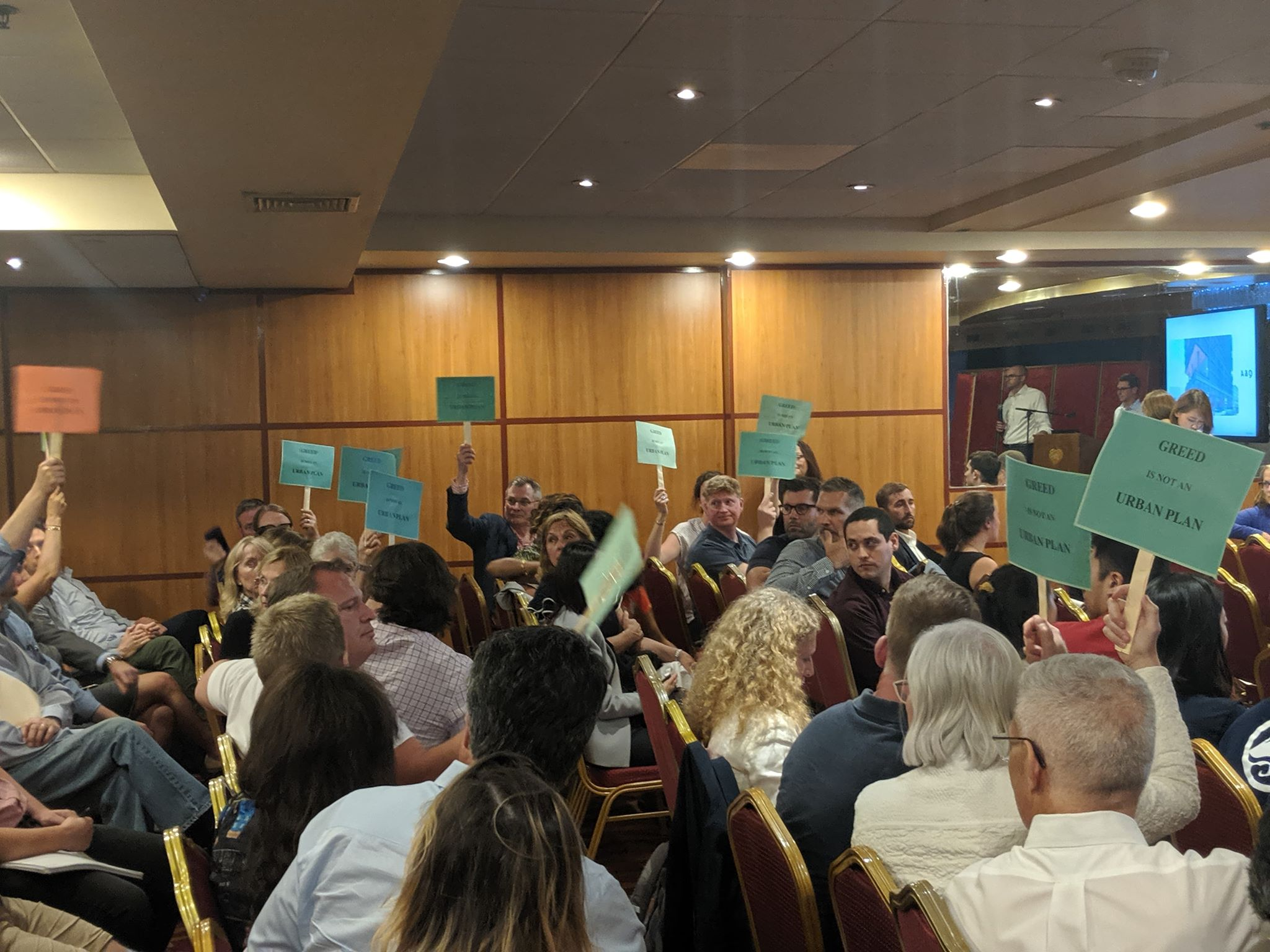 Leather District residents opposed the 24-story office building development at the first June meeting. (Photo courtesy of Wayne Yeh)