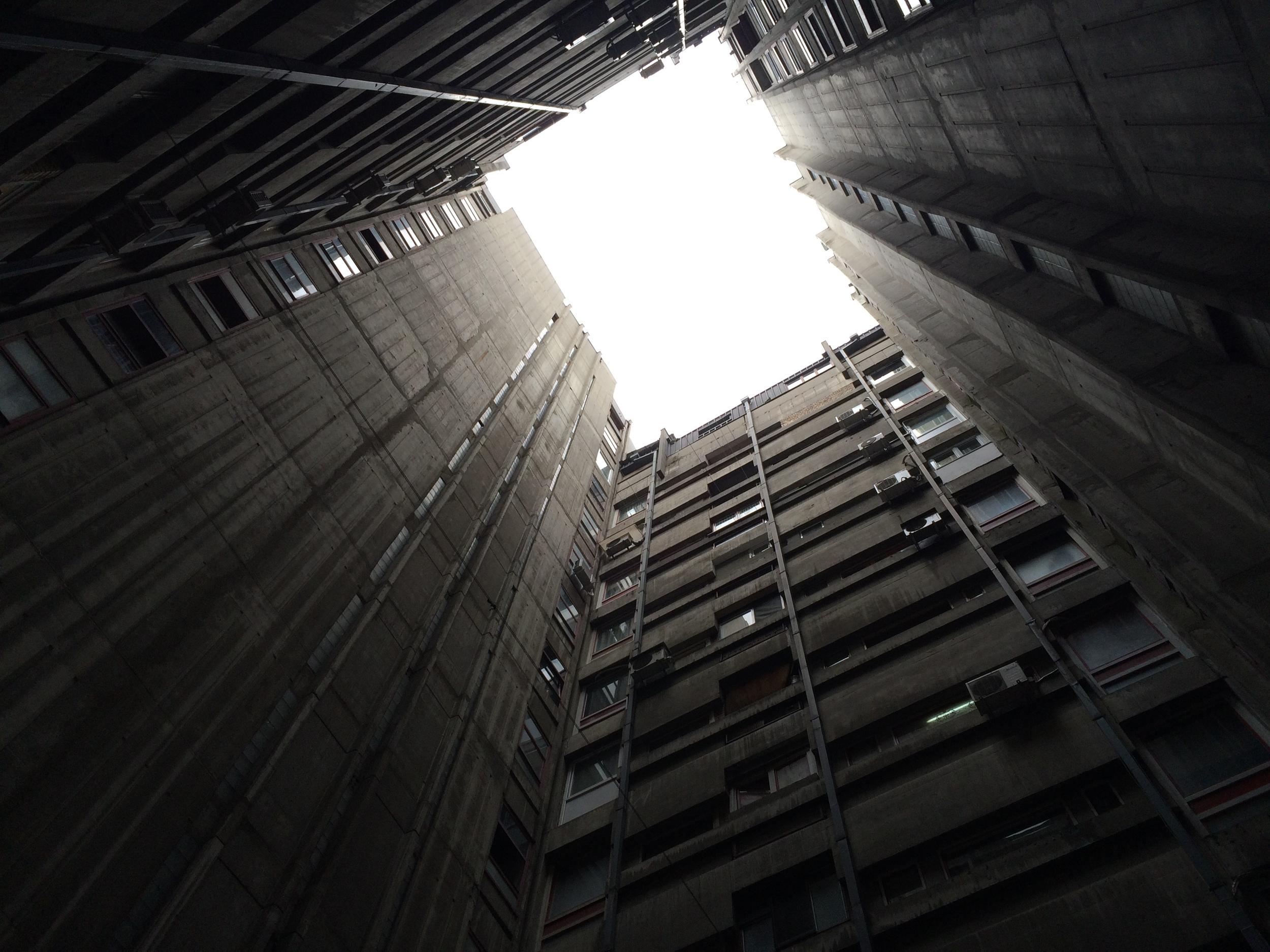 Interesting atrium in a New Belgrade building.