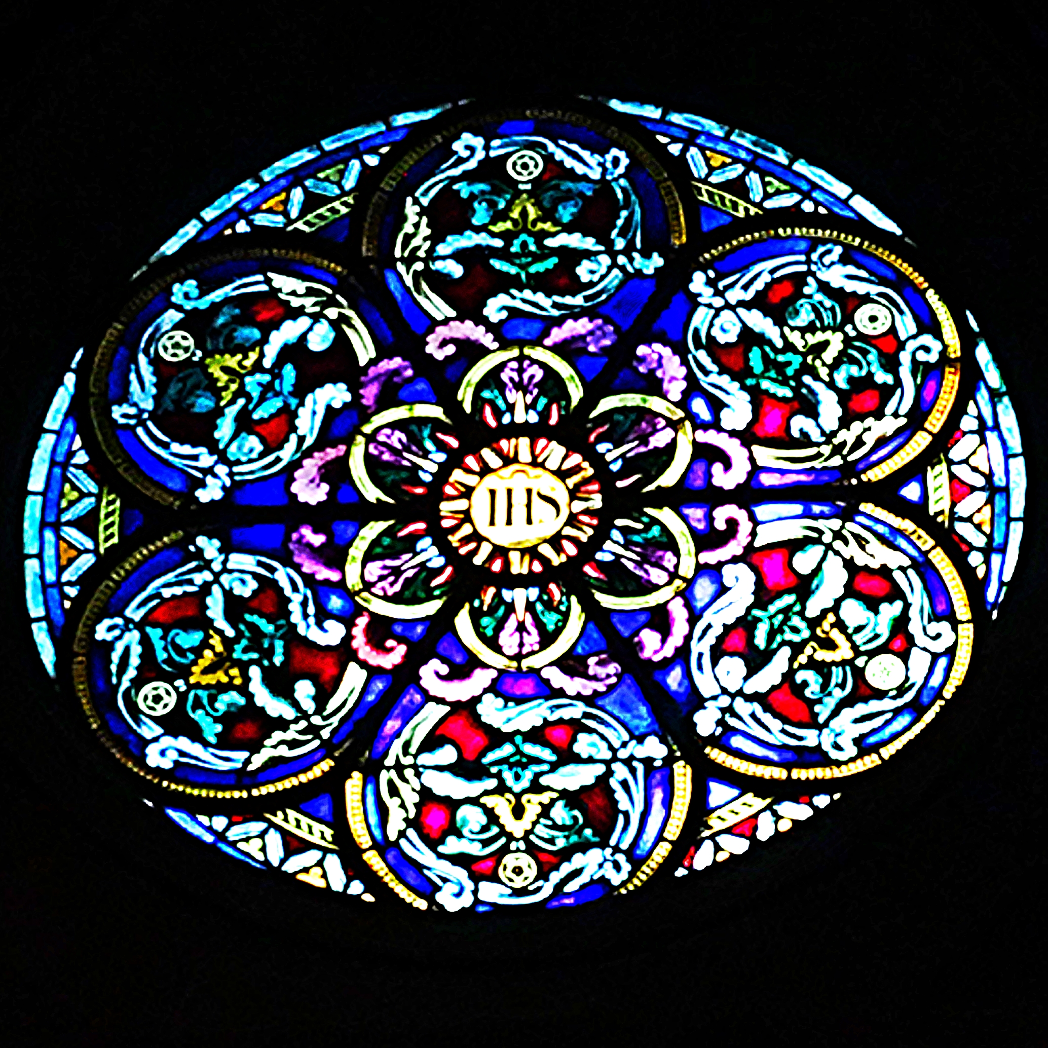 Stained glass. Always a nice touch.