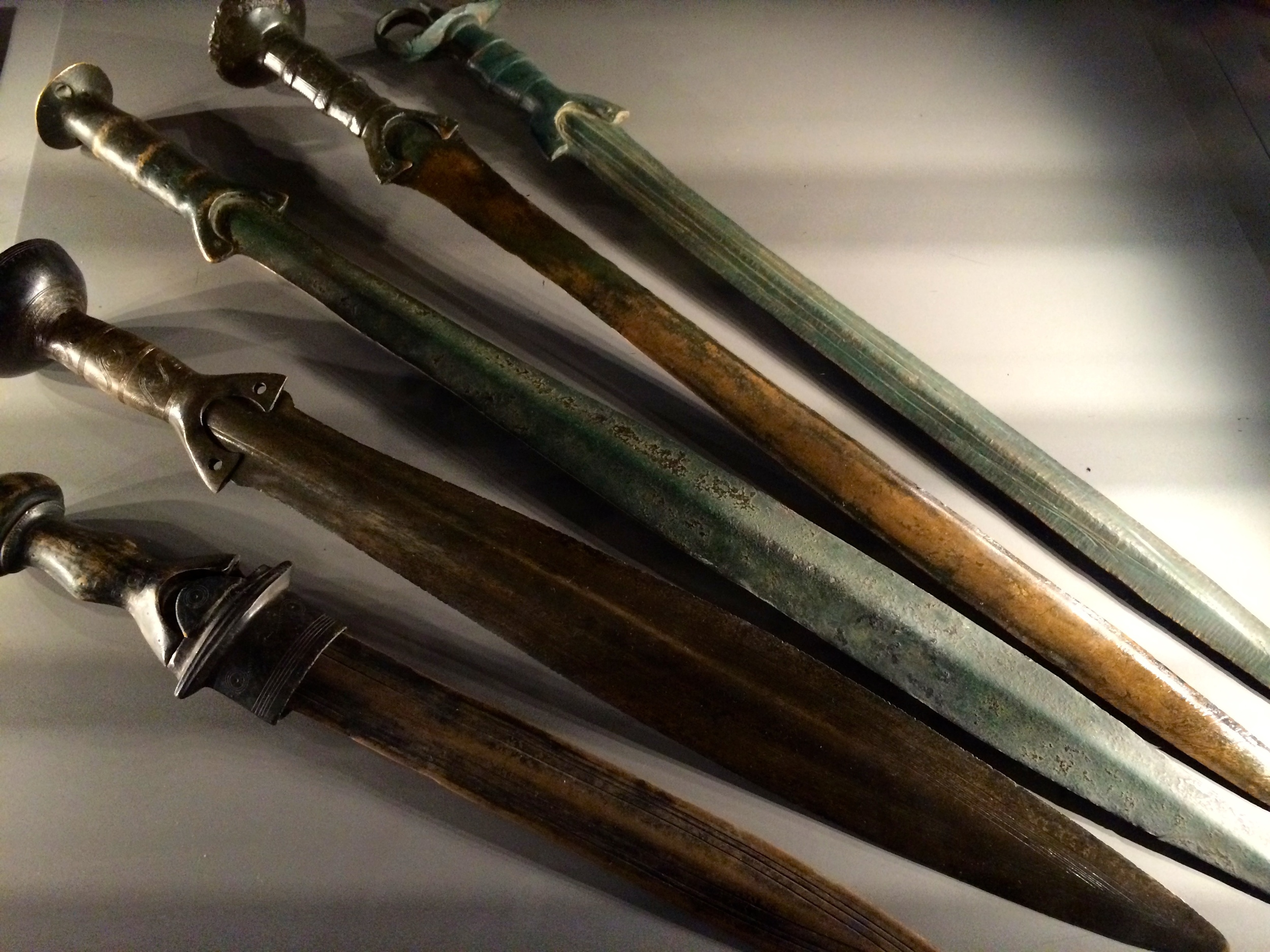 I don't care how old I get. I'm still gonna get super pumped when I see a display case of swords.