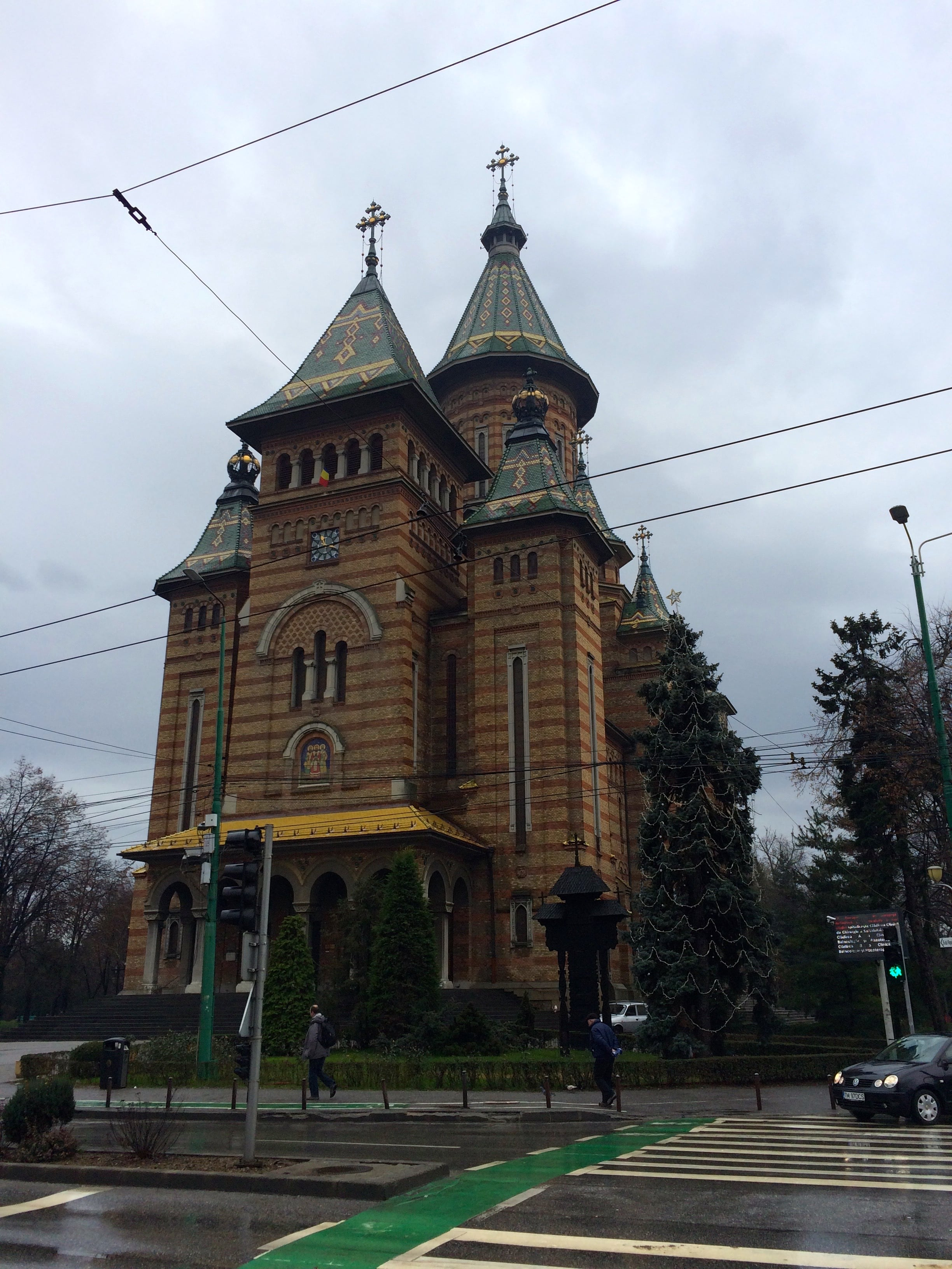 """Timisoara is quite the lovely little town. It's nickname is actually """"Little Vienna."""" This is the Timisoara Orthodox Cathedral located in the city centre."""