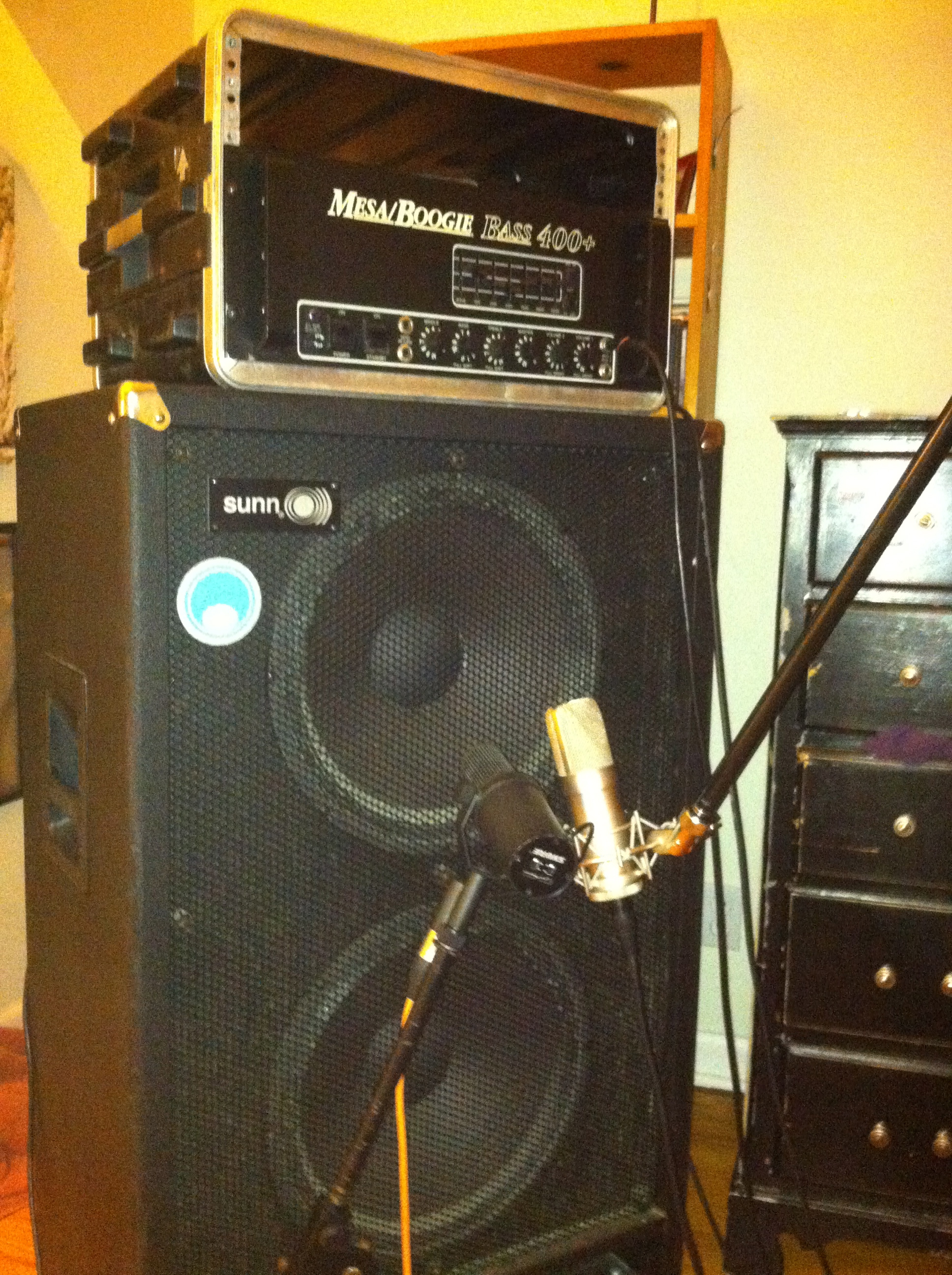 My bass rig, for the  Solo Bass  EP. In My Bedroom.