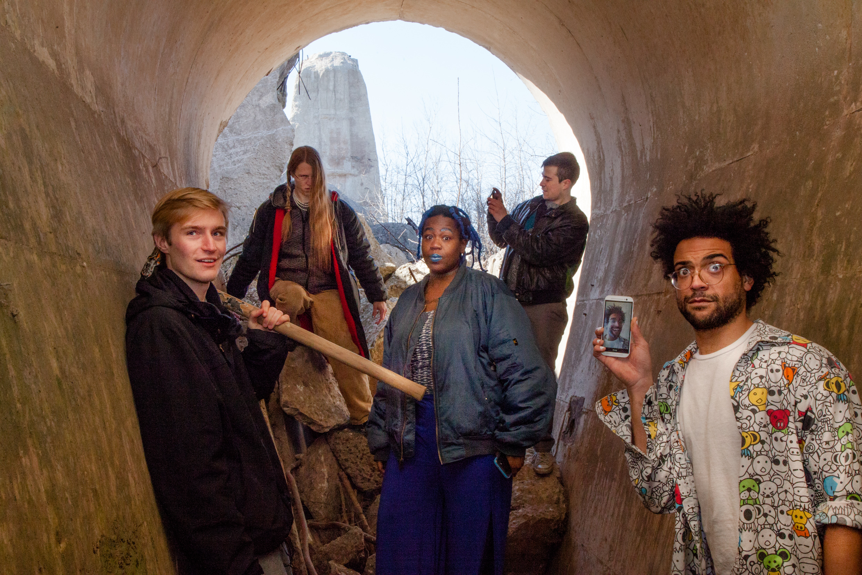 Blacker Face   (from left to right): Louis Clark (keys), Isaac Nicholas (guitar), Jolene Whatevr (vocals/songwriter), Noah Jones (drums), PT Bell (bass, backing vocals). Photo credit Egon Schiele.
