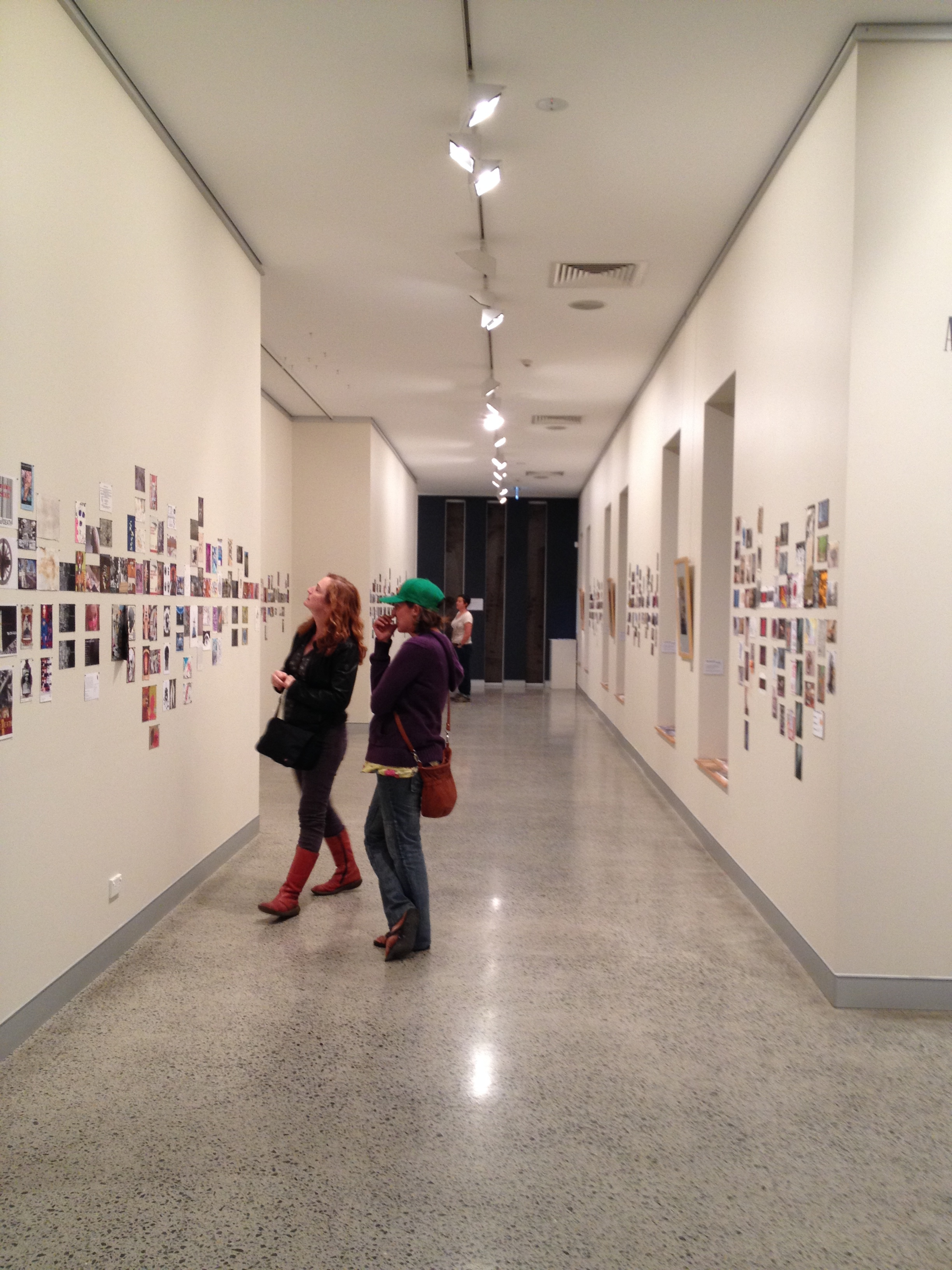 Installation shot of A Book About Death, curated exhibition at Tweed regional Gallery