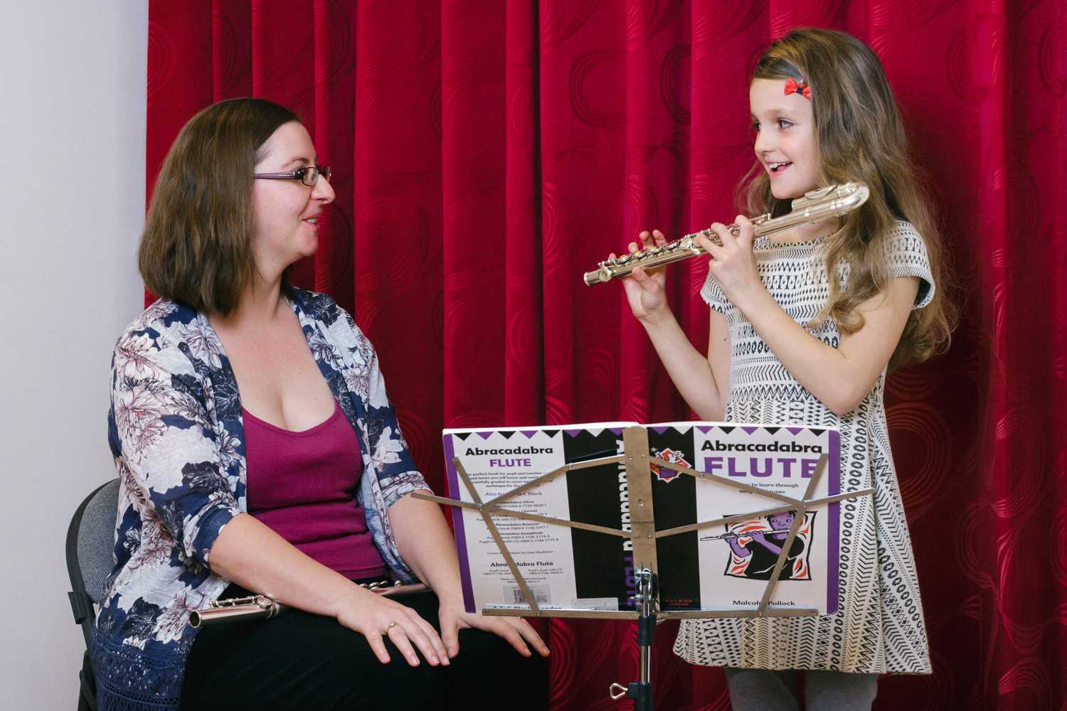 Learn flute, guitar, violin, piano, singing, cello or composition - for adults and for children!    Find out more .