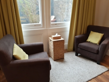 One of our counselling rooms in Holborn