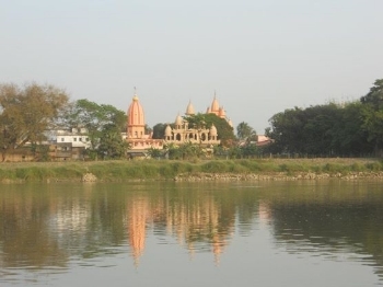 Sridham Mayapur on the banks of the river Ganges - Spiritual capital of the world for ISKCON devotees.