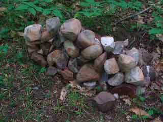 The Rocks from the Fire Pit
