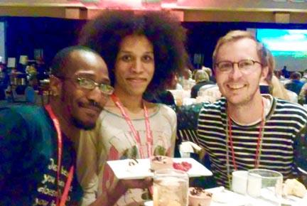 Sabree, Meisha and Wil at the Satruday night banquet.
