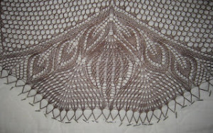Detail of lace shown on the left.