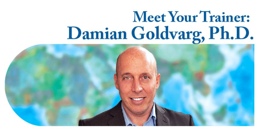 Meet Your Trainer: Damian Goldvarg, Ph.D. with photo of Damian