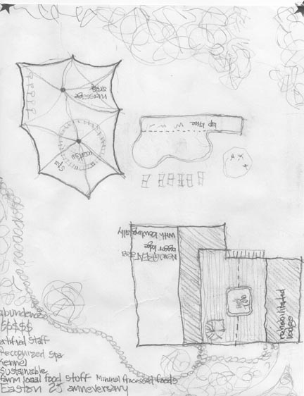 Hand=drawn map of Eastonwith notes