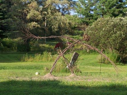 Sculpture made of sticks