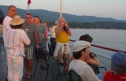 Men on board ship