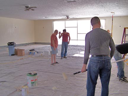 Workers in the Great Room