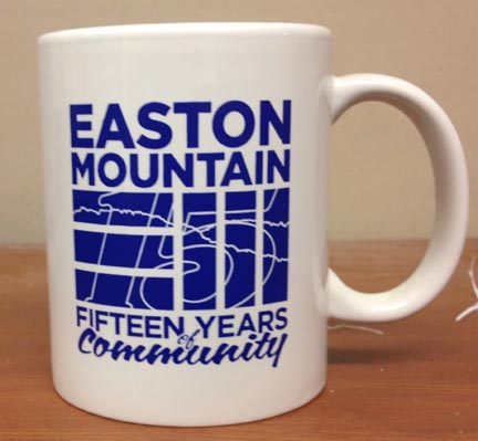 Mug with 15-year logo
