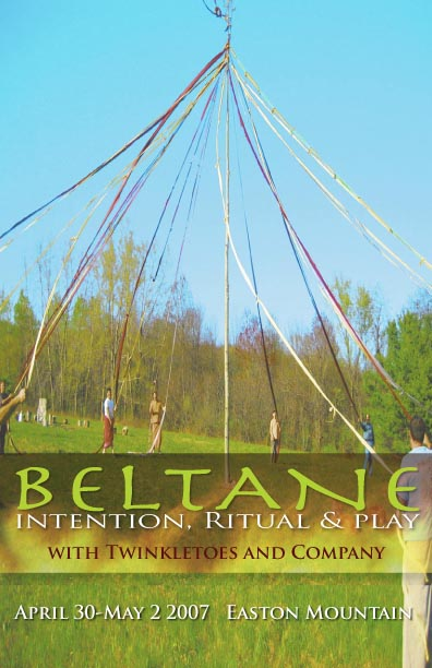 Pter for Easton's Beltane with may pole