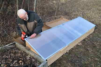 Assembling the cold frame