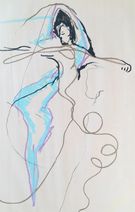 An Image Drawn by Paul D. - While I was dancing.