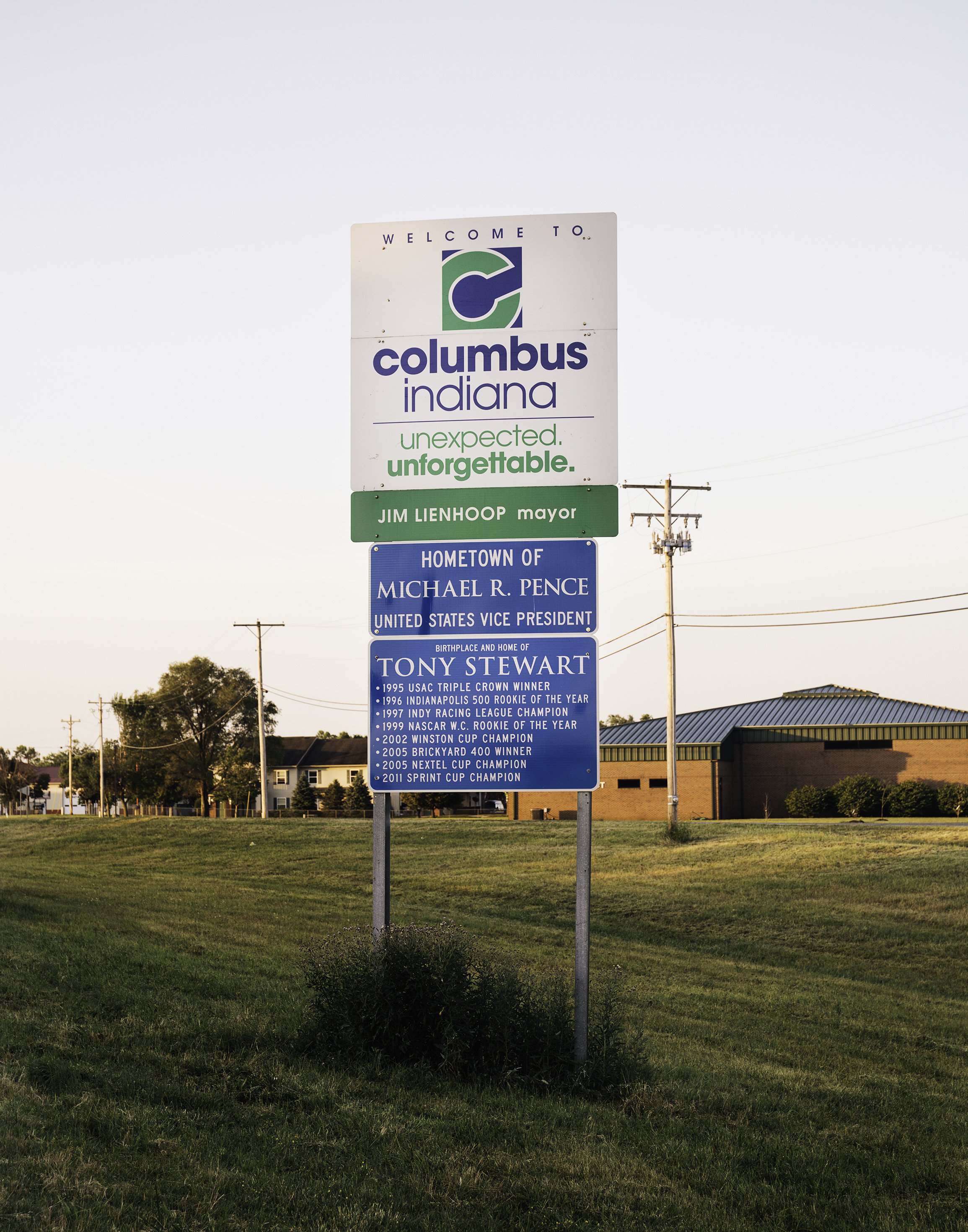 Columbus's New World - Mention the city of Columbus and most will assume that you mean the Ohio metropolis, home to one of the largest universities in the US and with a population close to the seven-digit mark – not the Columbus located in the depths of southern IndianaMonocle EscapistSummer 2017Story by: Ed Stockerphotos: (right) Columbus, home of Michael (as he's known here) Pence. (below) Aerial view of downtown Columbus.