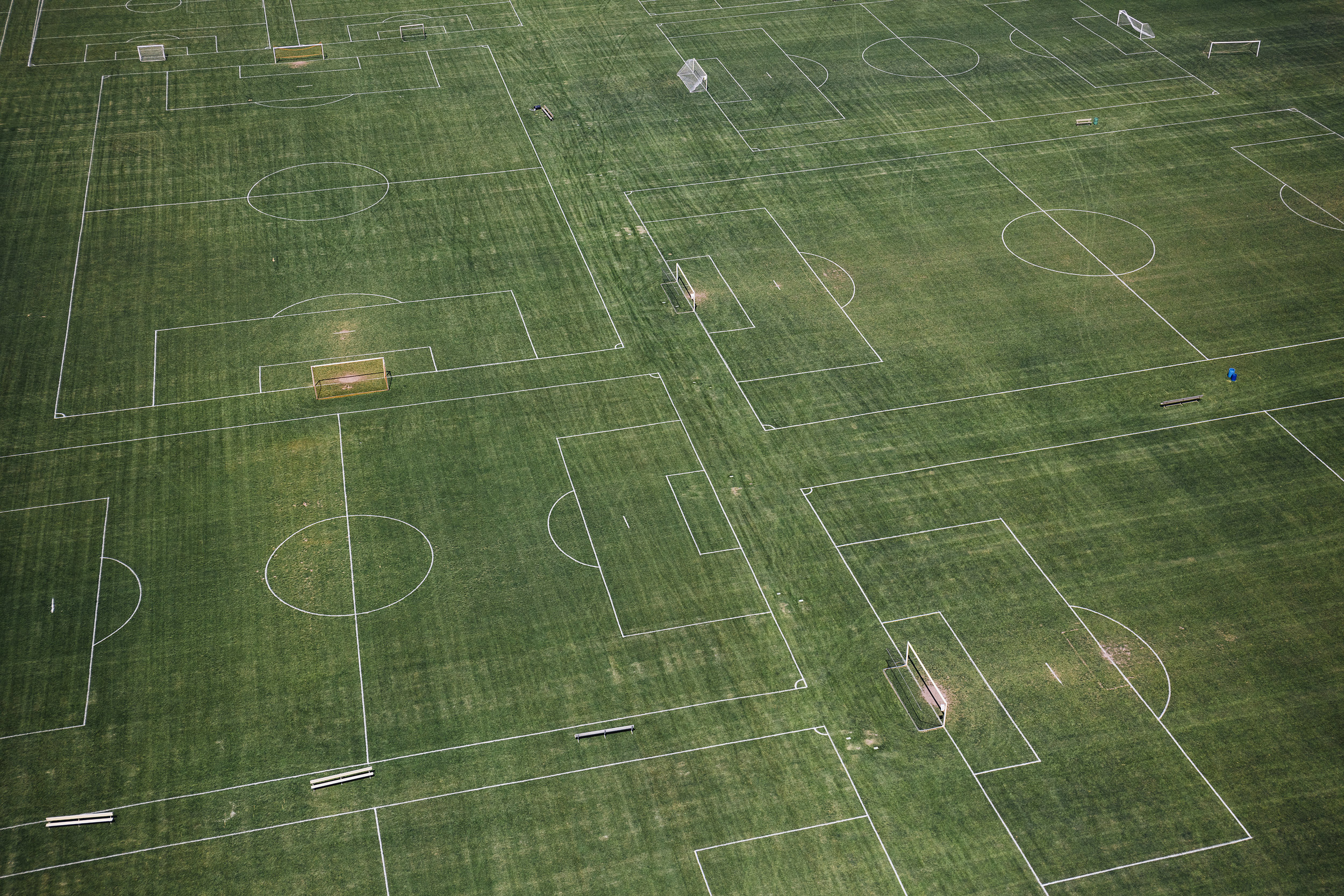 Soccer fields on the outskirts of Columbus's city center.