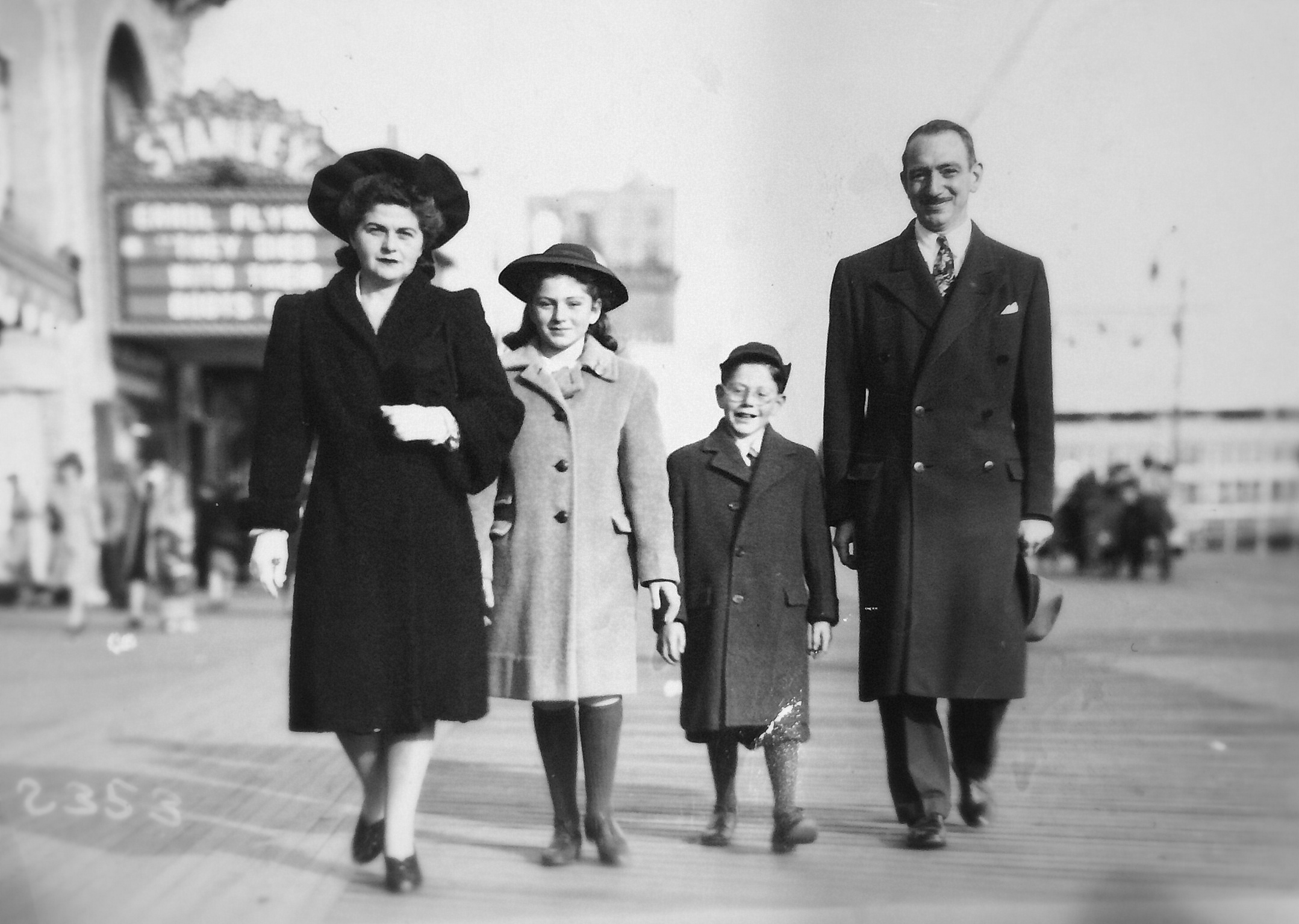Robert and his family in Atlantic City, New Jersey
