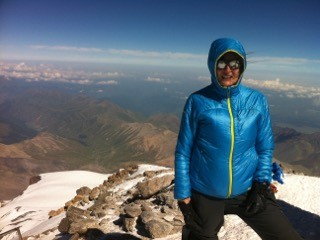At the summit of Mount Elbrus in Russia