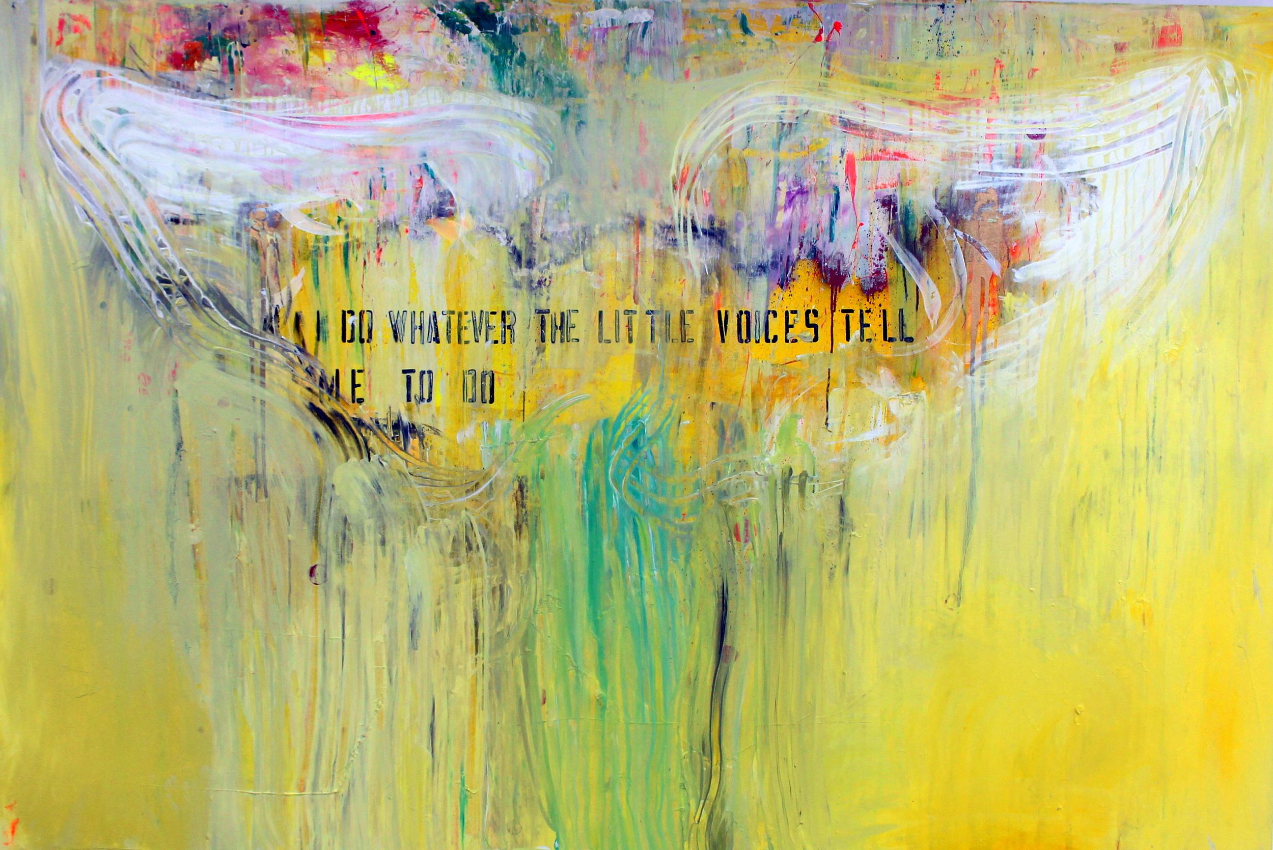Supernatural Yellow / 180x130cm / acrylic on canvas