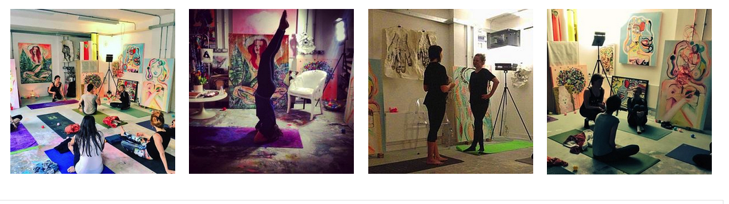 YOGA IN THE ART STUDIO -