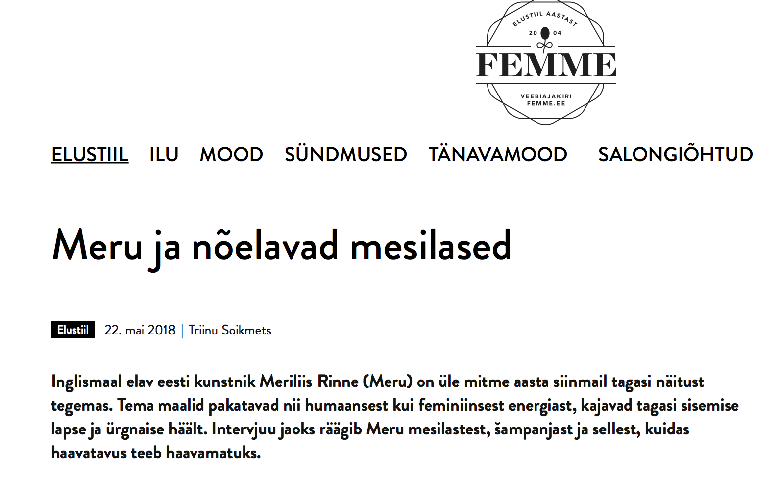 femme.ee  -  Read the article about the show. ( in Estonian only)