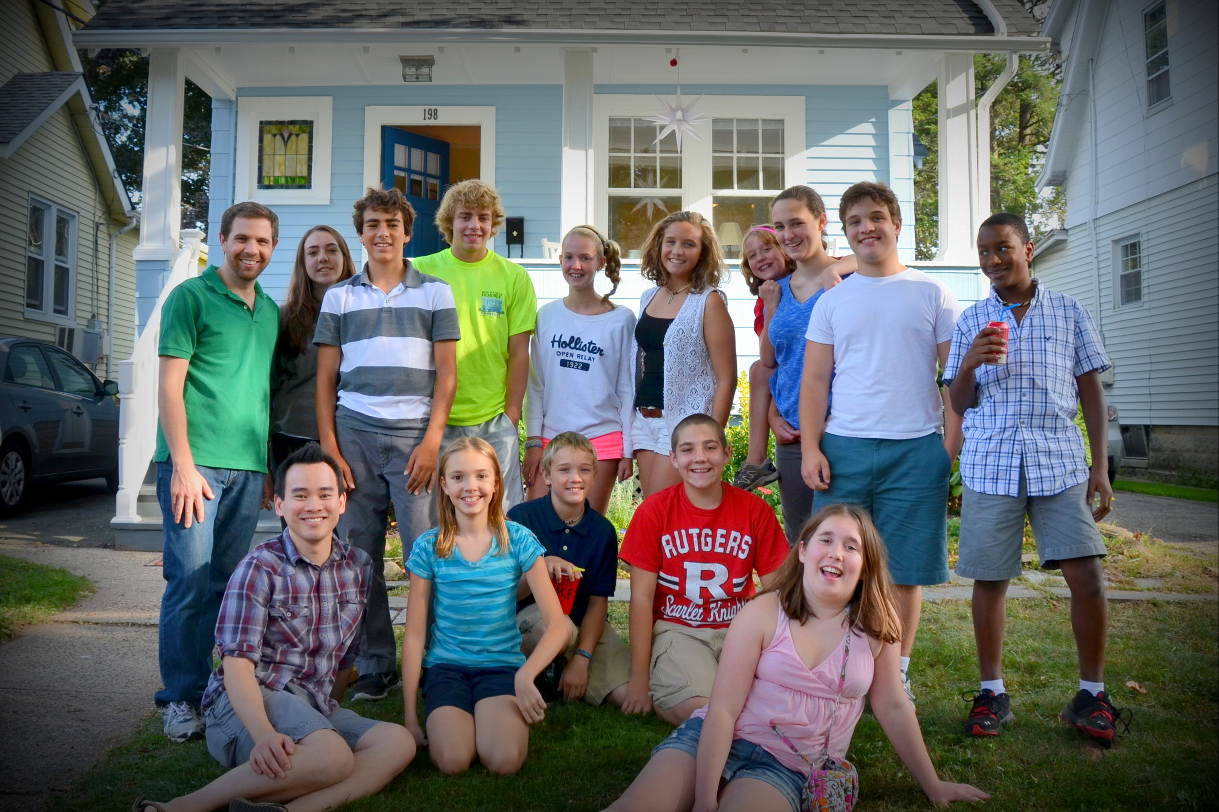 Youth Group Party at our house 2012