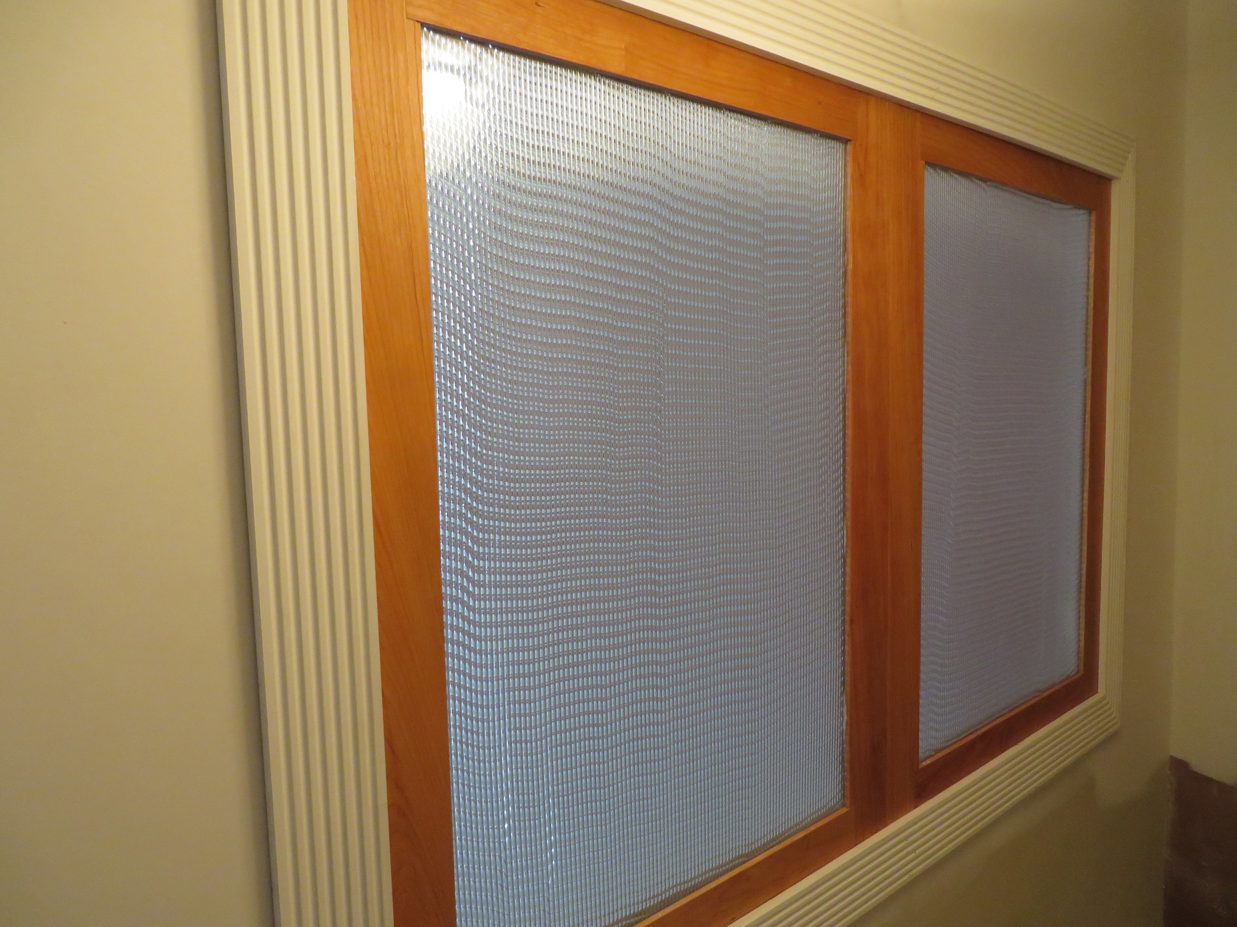 Textured Glass Panels (Ripple Glass and Reed Glass)