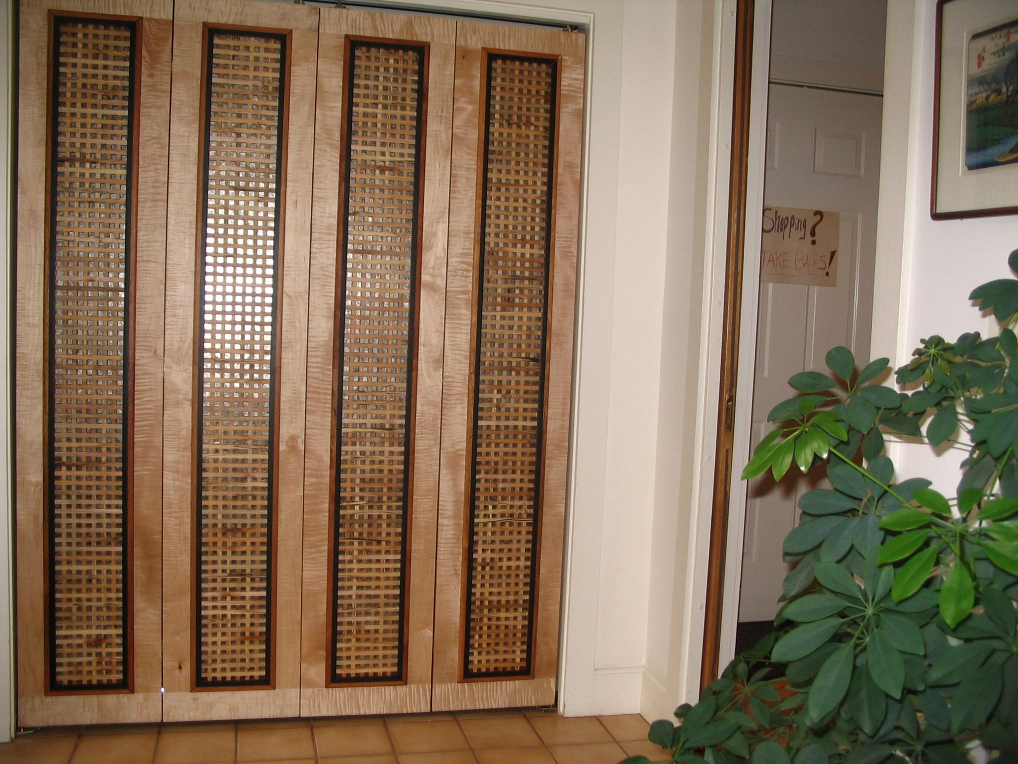 """Half Inch Grid"" Design, Mica Backing, in Foyer"
