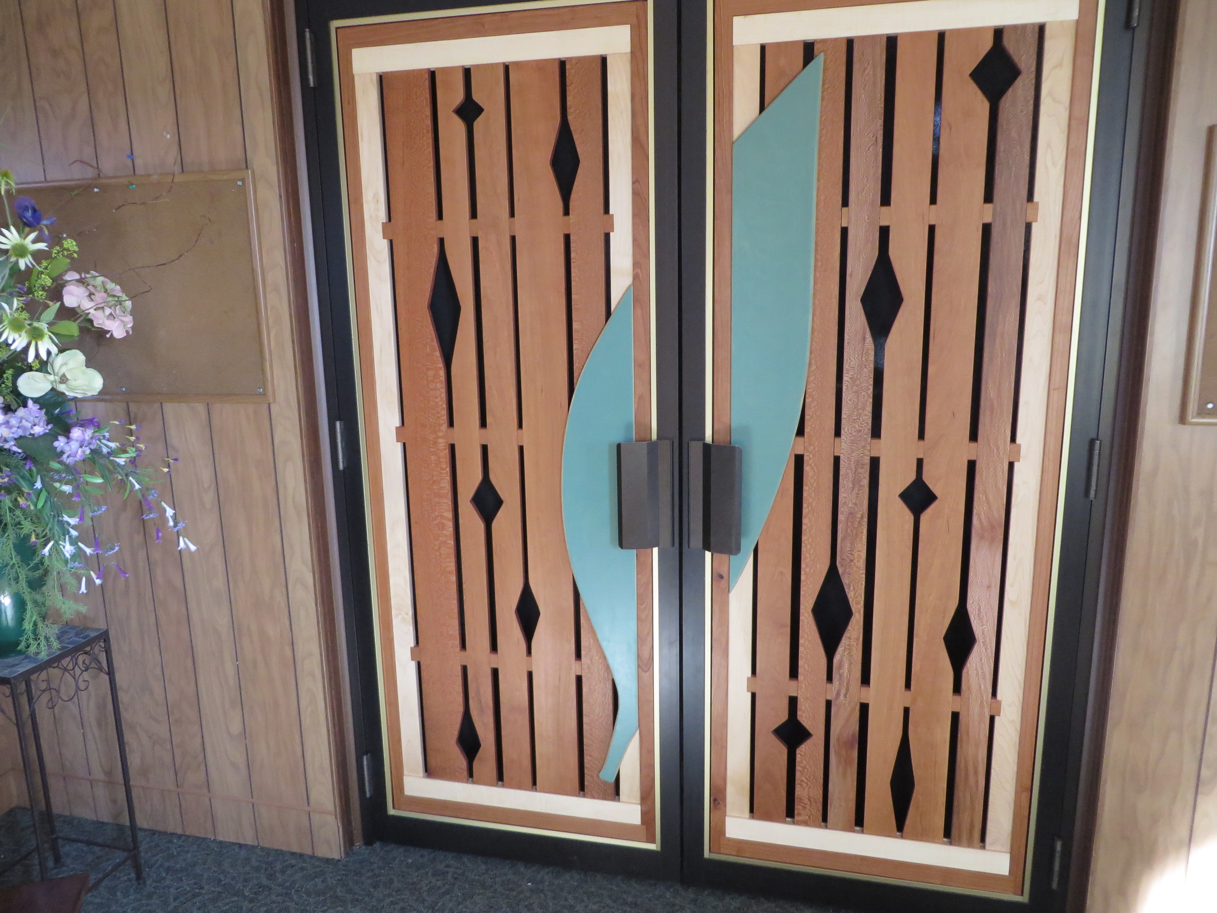 """""""Leaf/Diamond"""" Design, Sculptures over Doors"""