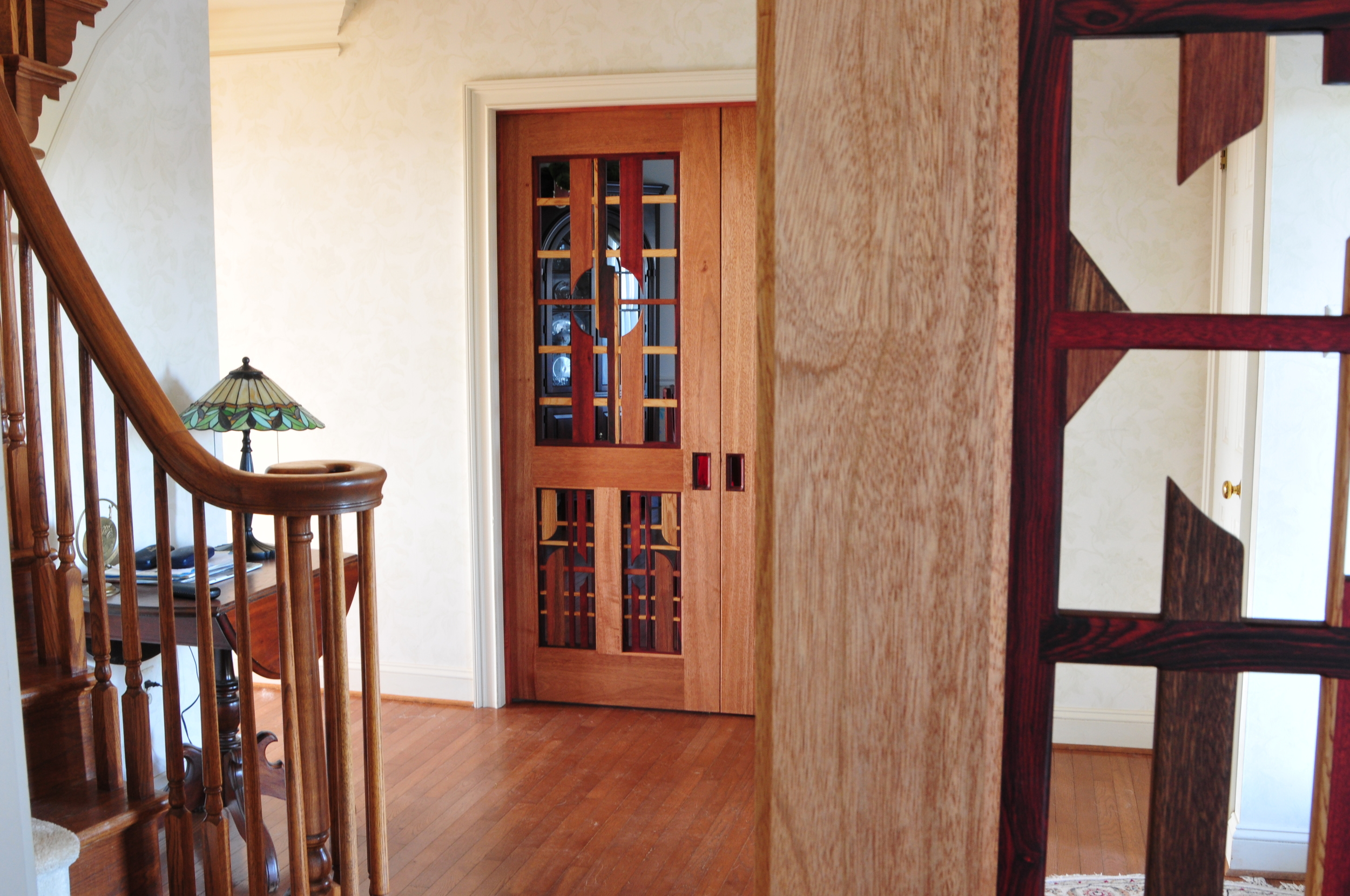 Mahogany Double Doors (look across foyer)