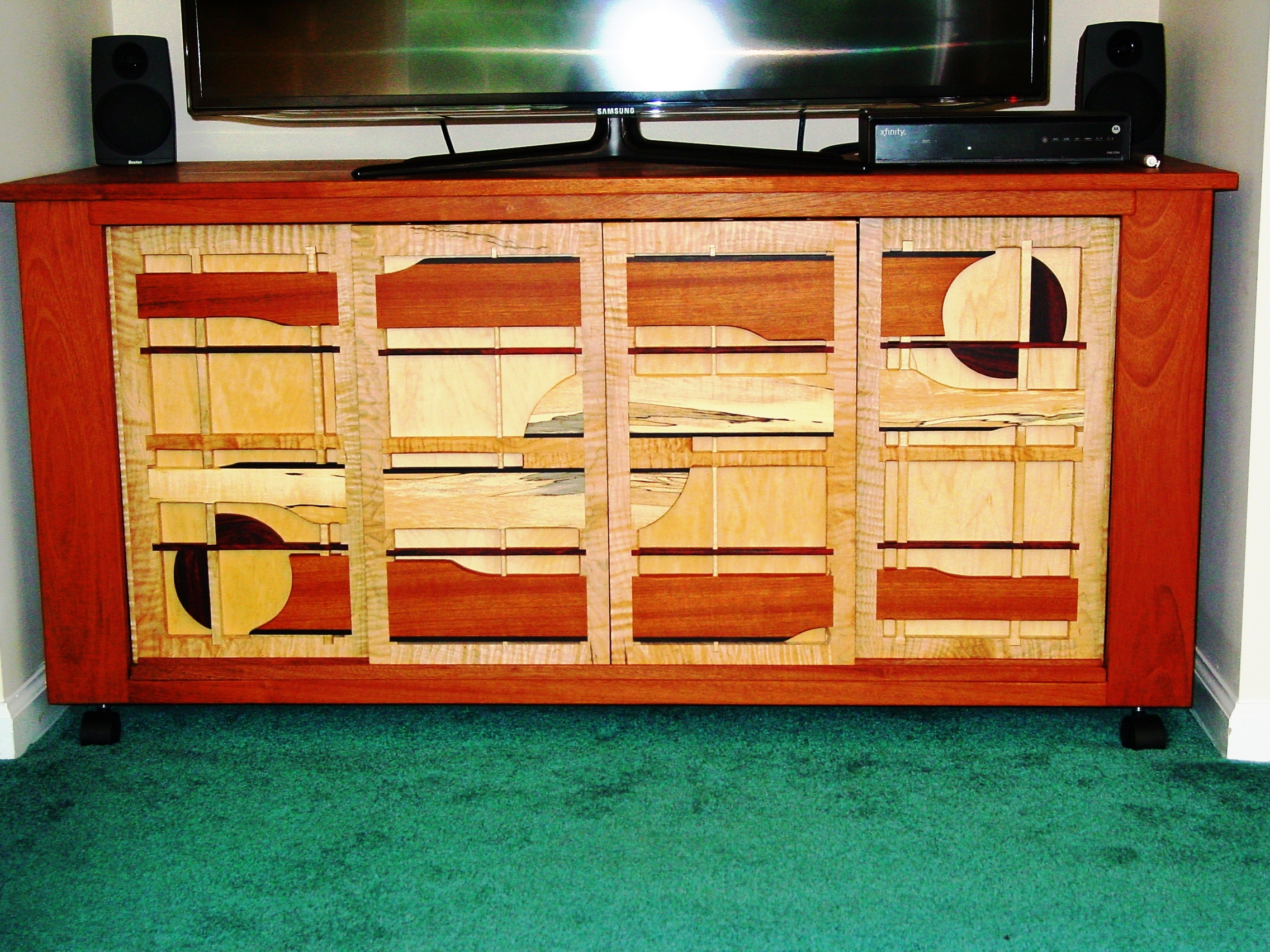 Jatoba and Spalted Maple Cabinet (Rosewood Accent)