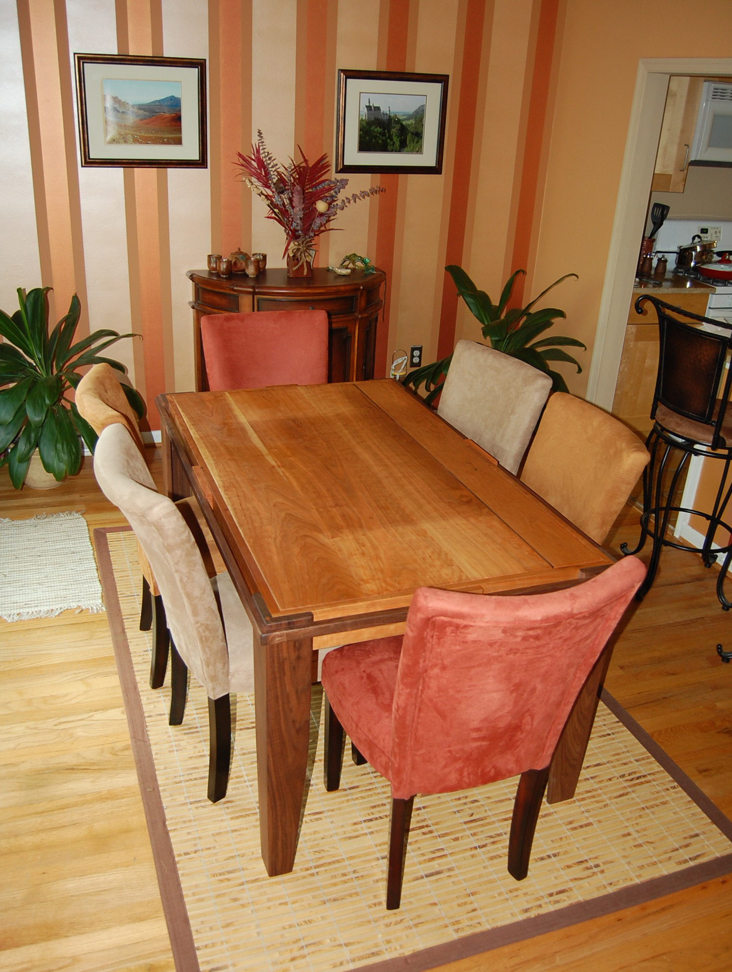 Cherry and Walnut Dining Table